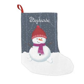 雪だるまの冬の不思議の国 スモールクリスマスストッキング