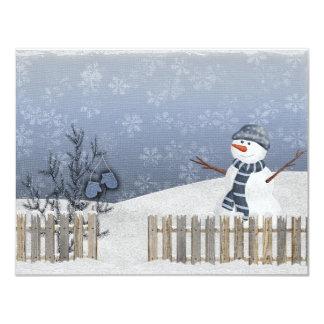 雪だるまの冬カード カード