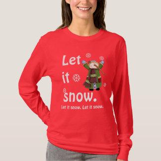 雪だるまの喜びのティー Tシャツ