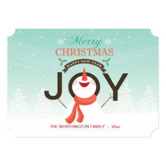 雪だるまの喜びの休日カード カード