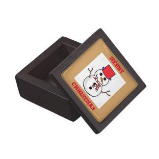 雪だるまの小さいギフト用の箱 ギフトボックス
