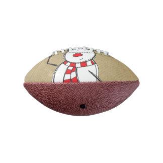 雪だるまの小型フットボール アメリカンフットボール