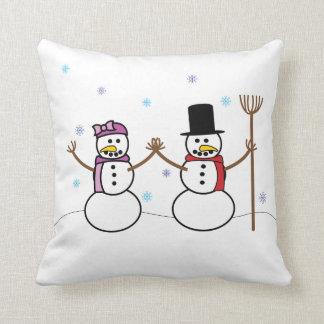雪だるまの枕 クッション