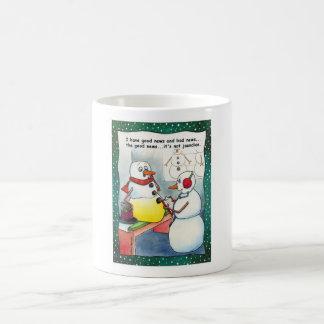 雪だるまの検査のマグ コーヒーマグカップ