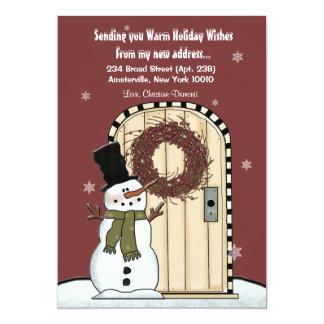 雪だるまの移動発表 カード