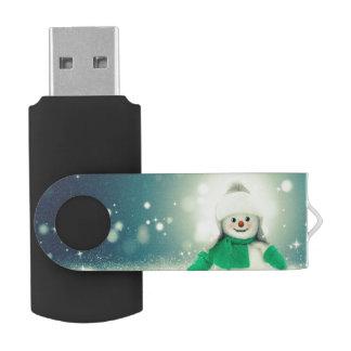 雪だるまの装飾 USBフラッシュドライブ