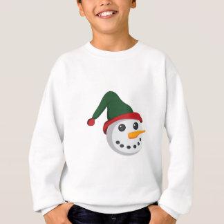 雪だるまの頭部 スウェットシャツ