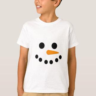 雪だるまの顔 Tシャツ