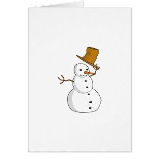 雪だるまは感謝していしています カード