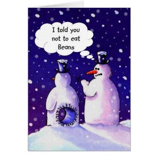 雪だるまは豆を食べません カード