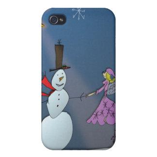 雪だるまを持つ1月の妖精 iPhone 4 CASE