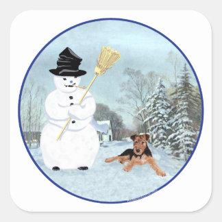 雪だるまを造って下さい スクエアシール