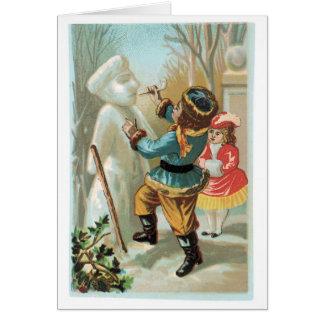 雪だるまを造ること カード