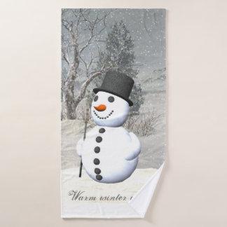 雪だるまタオルセット バスタオルセット