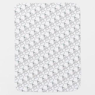 雪だるまパターン毛布 ベビー ブランケット
