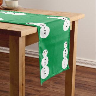 雪だるまパターン ショートテーブルランナー