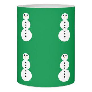 雪だるまパターン LEDキャンドル