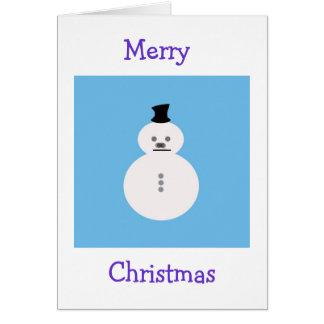 雪だるまメリーなChirstmas カード