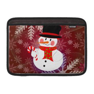雪だるま及びCandycane MacBook スリーブ