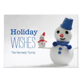 雪だるま家族 カード