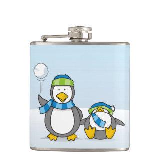 雪だるま式に増大するペンギン フラスク