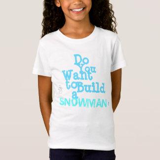 「雪だるま」の女の子」のTシャツ Tシャツ