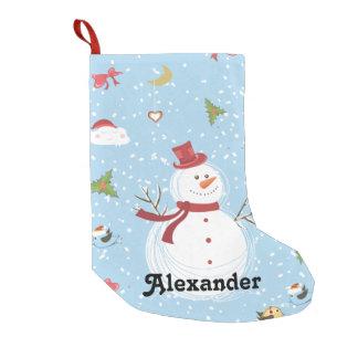 雪だるま スモールクリスマスストッキング