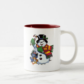 雪だるま ツートーンマグカップ