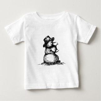 雪だるま ベビーTシャツ