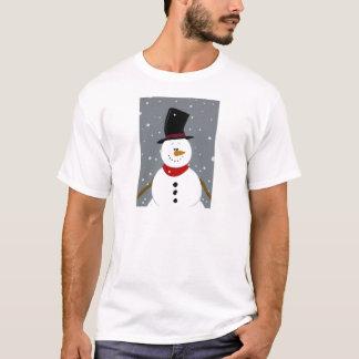 雪だるま-銀 Tシャツ