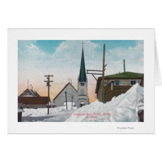 雪でカバーされるSteadmanの道の冬の眺め カード