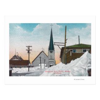 雪でカバーされるSteadmanの道の冬の眺め ポストカード