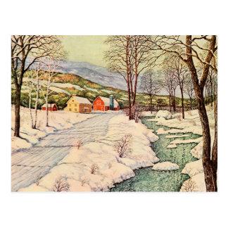雪で覆われた国 ポストカード