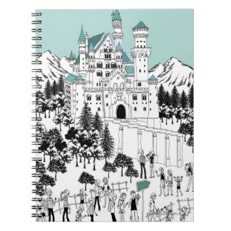 雪で覆われた城 ノートブック