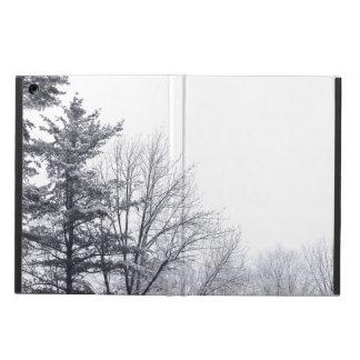 雪で覆われた木: 横 iPad AIRケース