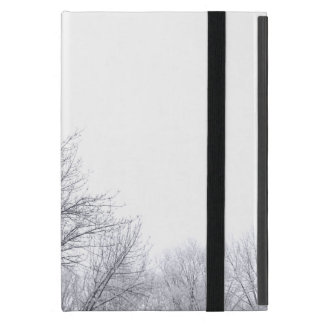 雪で覆われた木: 横 iPad MINI ケース