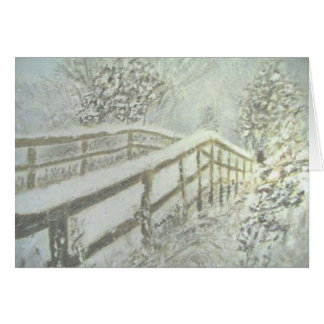 雪で覆われた橋 カード