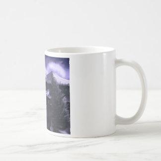 雪とのすみれ色夜 コーヒーマグカップ