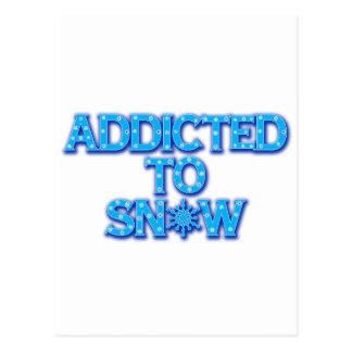 雪に熱中される ポストカード