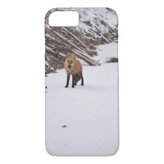 雪のアカギツネ iPhone 8/7ケース