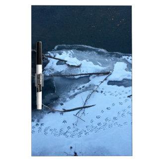 雪のアヒルトラック ホワイトボード