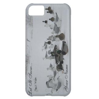 雪のアヒル冬の不思議の国のiPhone 5の場合 iPhone5Cケース