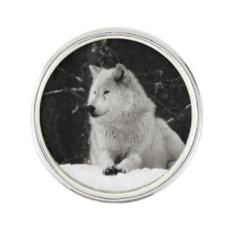 雪のオオカミ ラペルピン