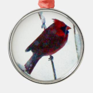 雪のオーナメントの(鳥)ショウジョウコウカンチョウ メタルオーナメント