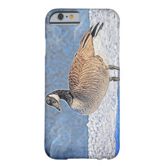 雪のカナダのガチョウ BARELY THERE iPhone 6 ケース