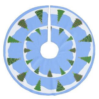 雪のクリスマスツリー ブラッシュドポリエステルツリースカート