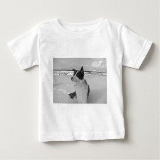 雪のコリー ベビーTシャツ