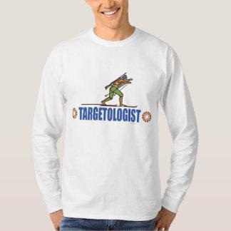 雪のスキーバイアスロン Tシャツ