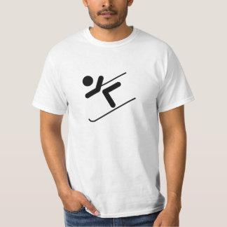 雪のスキーヤー Tシャツ
