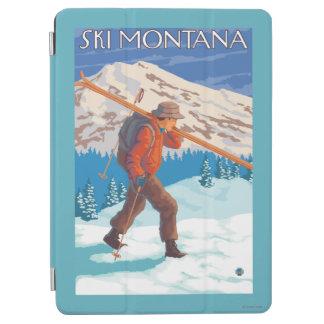 雪のスキー-モンタナ--を運んでいるスキーヤー iPad AIR カバー